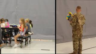 Soldier's Surprise Homecoming at 7 year old Daughter's School (Heart Warming)