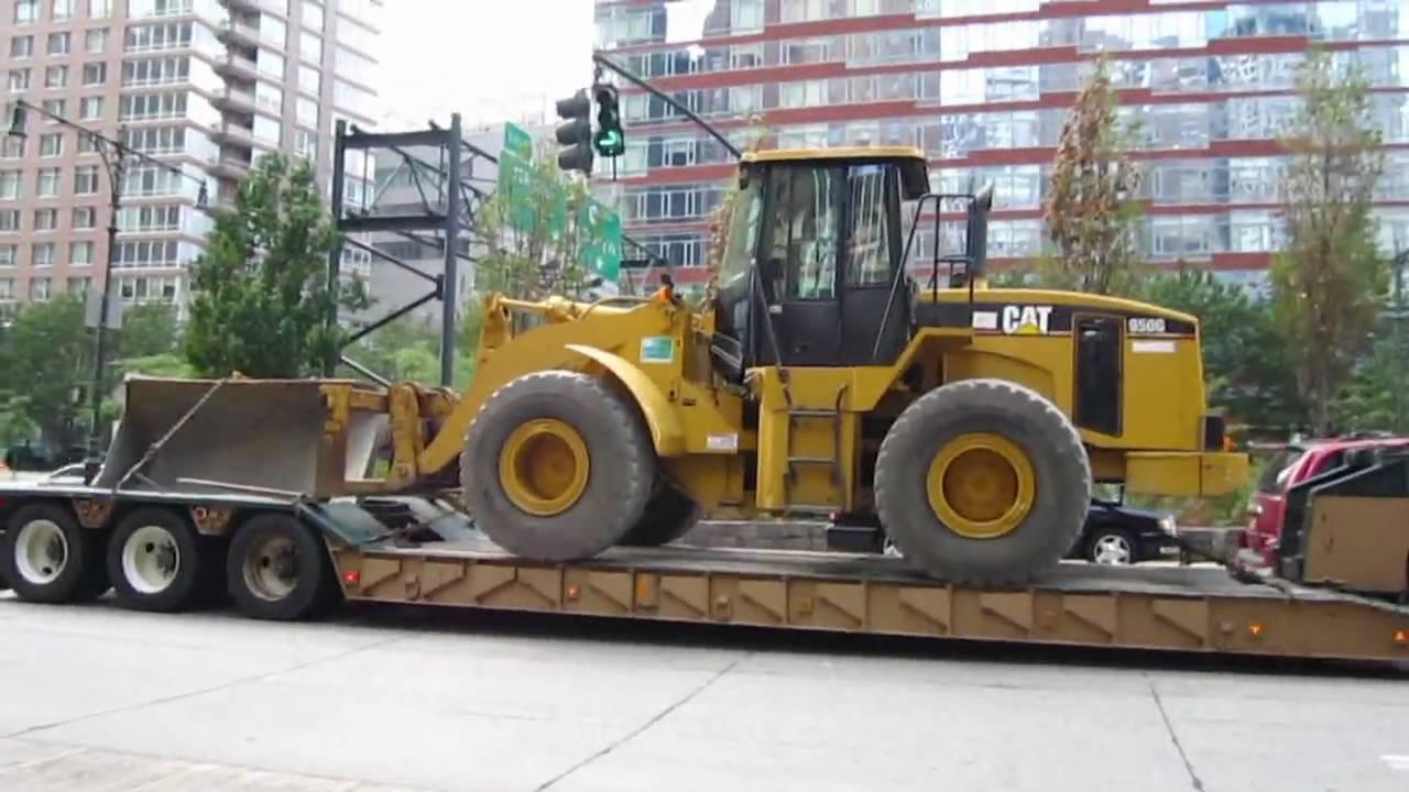 Caterpillar 950g Wheel Loader On Mack Lowboy