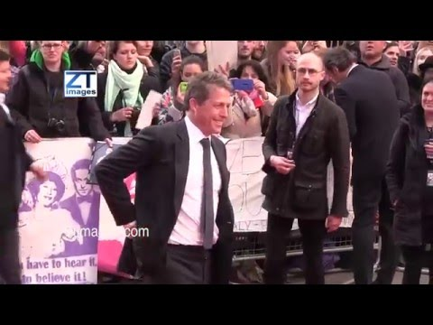 Hugh Grant at the film premiere Florence Foster Jenkins in London, UK
