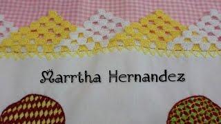 Bico de crochê em duas cores – Orilla o Puntilla tejida Triangulos en 2 Colores