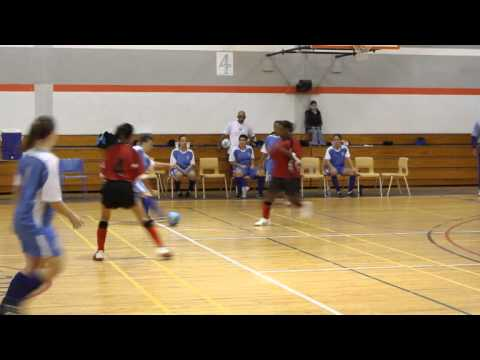 Womens Futsal YMSC Lady Bluebirds vs Somerset Hurricanes Bermuda January 21 2012