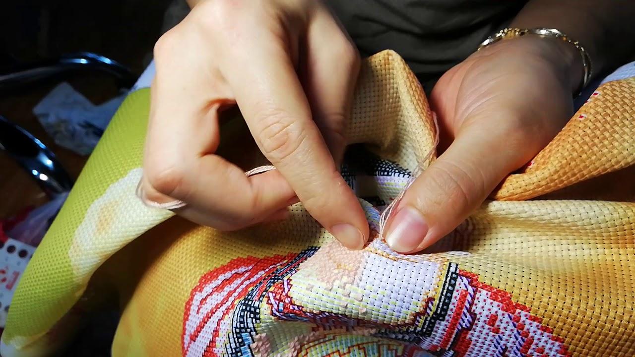 Hướng dẫn cách thêu tranh chữ thập 1 chiều đều đẹp –  Beautiful cross stitch embroidery