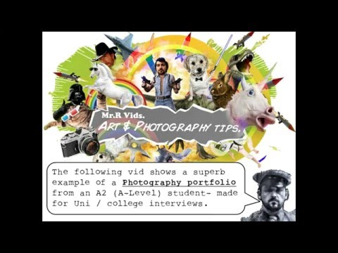 Photography Portfolio Example Preparing For University
