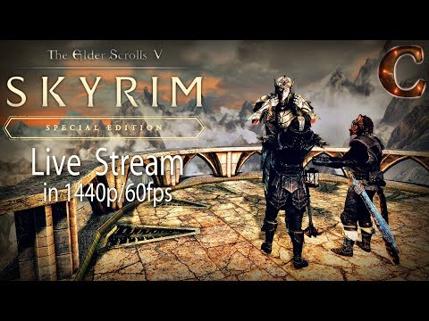 Skyrim Special Edition Live: Confronting Lord Harkon, Part 110, Lvl 69 Legendary (in 1440p/60fps)