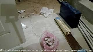 Сушилка для белья из пластиковых полипропиленовых труб своими руками  Часть 1