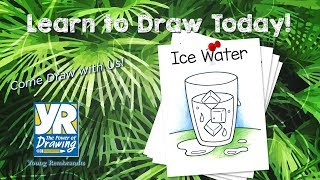 Teaching Kids How to Draw: How to Draw a glass of Ice Water