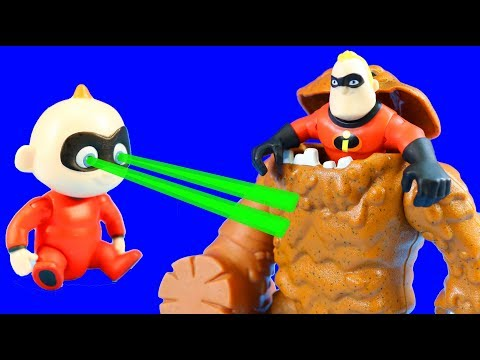 The Incredibles 2 Dash & Jack Jack Rescue Mr. Incredible And Battle Clayface