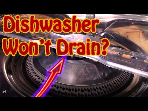 DIY How to Repair a Maytag Dishwasher That Won't Drain - Slow Draining Dishwasher Repair