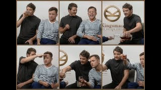 This is what happens when you drink bourbon with Pedro Pascal and Taron Egerton during an interview