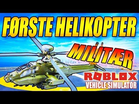 MIN FØRSTE HELIKOPTER - MILITÆR HELIKOPTER - VEHICLE SIMULATOR (NY UPDATE) - DANSK ROBLOX - [#19]