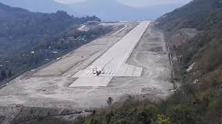 Pakyong airport , sikkim , take off view