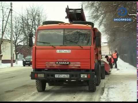 С дорог Кузнецка ежедневно вывозят не менее 250 тонн снега