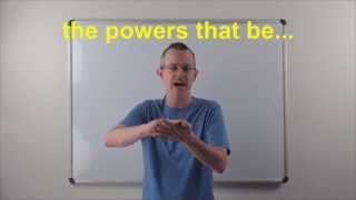 Learn English: Daily Easy English Expression 0803: the powers that be