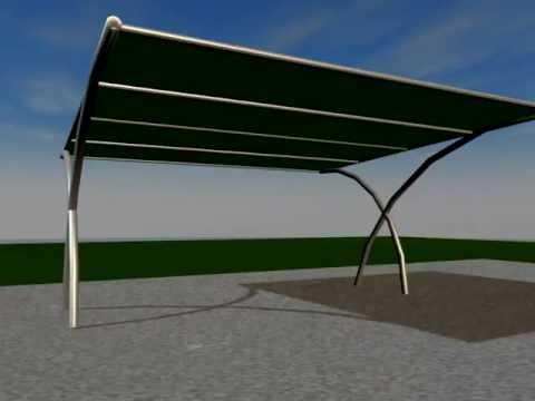 Autocover italia tettoie e pensiline ombreggianti for Tettoie per auto usate