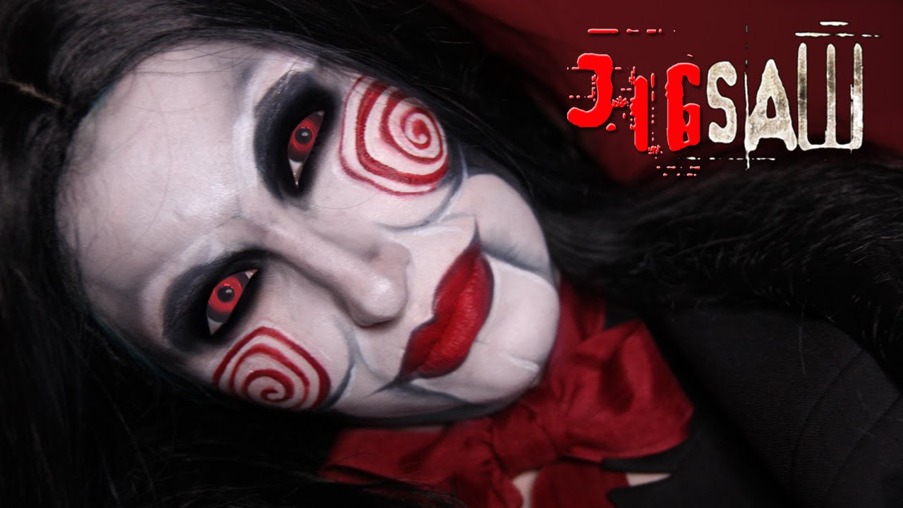 Jigsaw Puppet Makeup Tutorial / Billy SAW Scary Horror Make-up For ...
