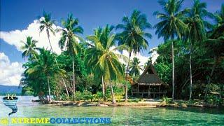 Marovo Lagoon in Marovo, Solomon Islands
