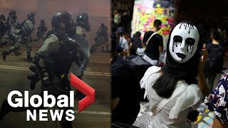 Hong Kong protests: Hundreds rally against anti-mask law