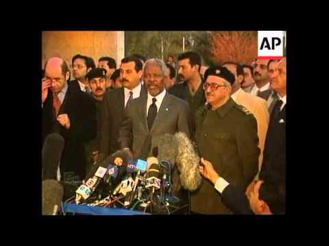 Iraq - Kofi Annan arrives