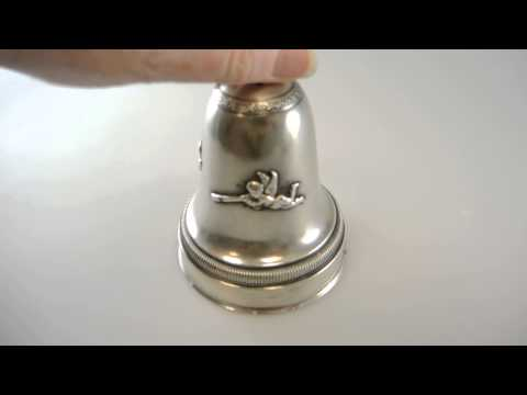 BELL Shaped Austrian Silver Music Box c1900