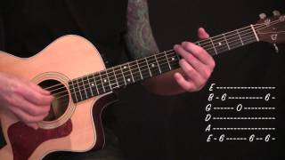 A Perfect Circle - 3 Libras - Acoustic Guitar Lesson(WARNING: TUNING FLAW)