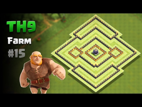 Clash of Clans ⚫ TH9 Farming Base #15 + Replays ⚫ Protect Dark Elixir