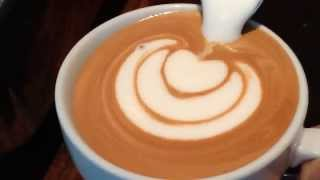 How to make Latte Art: The Basics in Slow Motion by Barista Dritan Alsela thumbnail
