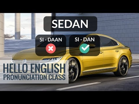 How To Pronounce Engine? How To Say Sedan? Hello English Pronunciation Class 26