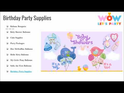 Birthday  Party Supplies in Singapore