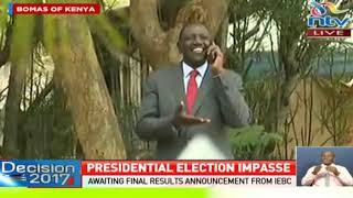 Video DP Ruto in a jovial mode ahead of the announcement of the presidential results download MP3, 3GP, MP4, WEBM, AVI, FLV Agustus 2017