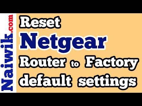 Reset Netgear wireless router to Factory default settings - YouTube