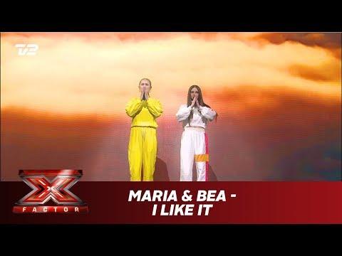 Maria & Bea synger 'I Like It' - Cardi B feat. J. Balvin & Bad Bunny (Live) | X Factor 2019 | TV 2