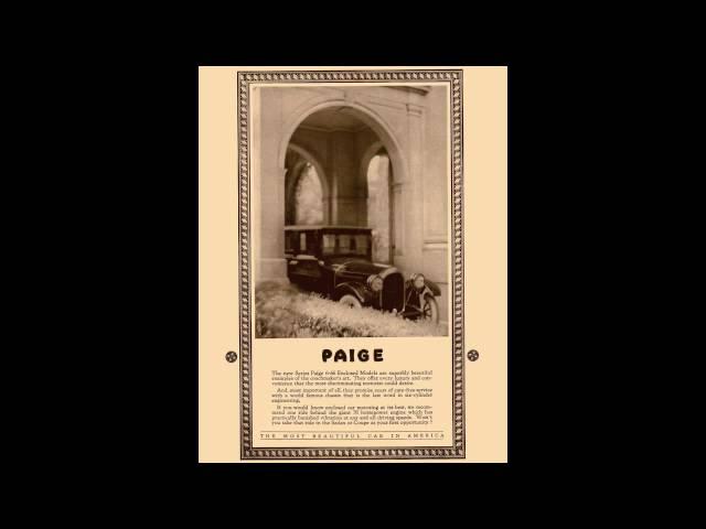1922 Paige