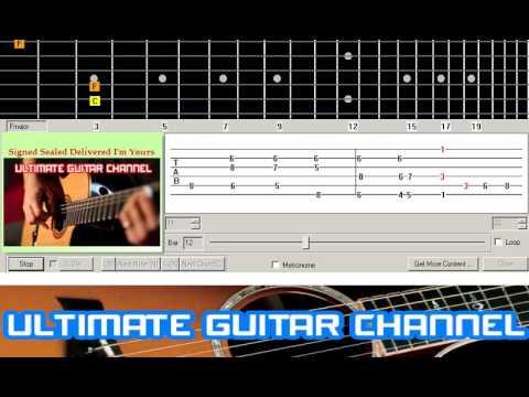[Guitar Solo Tab] Signed Sealed Delivered I'm Yours (Stevie Wonder)