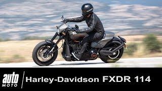 Harley-Davidson FXDR 114 ESSAI du Dragster américain Auto-Moto.com
