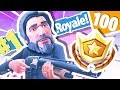 LEVEL 100 IN FORTNITE BATTLE ROYALE!!!