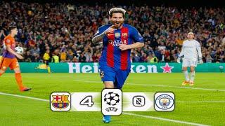 مباراة برشلونة ومانشستر سيتي 40 ◄ تشامبيونز ليج 2016 [ عصام الشوالي ] HD