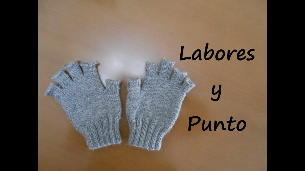 Como tejer guantes con dedos cortos en dos agujas - Parte 1 de 3 ...