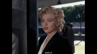 """Marilyn Monroe In """"Niagara"""" - Movie Scene and """"I Stuttered"""" interview And Footage At Press Party"""
