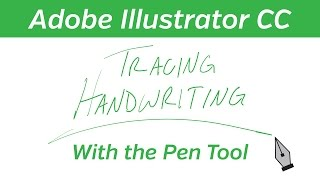 Adobe Illustrator Tutorial - Tracing Handwriting
