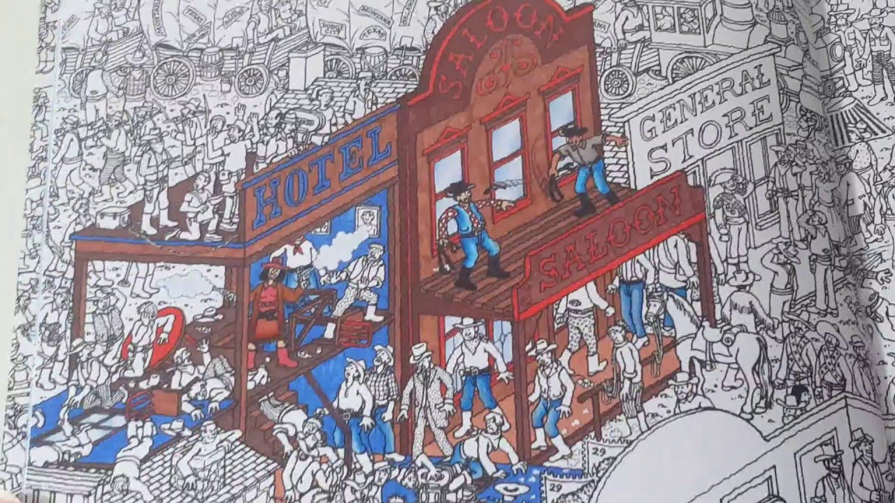 The coloring book review - Wheres Waldo Coloring Book Review Flip Through