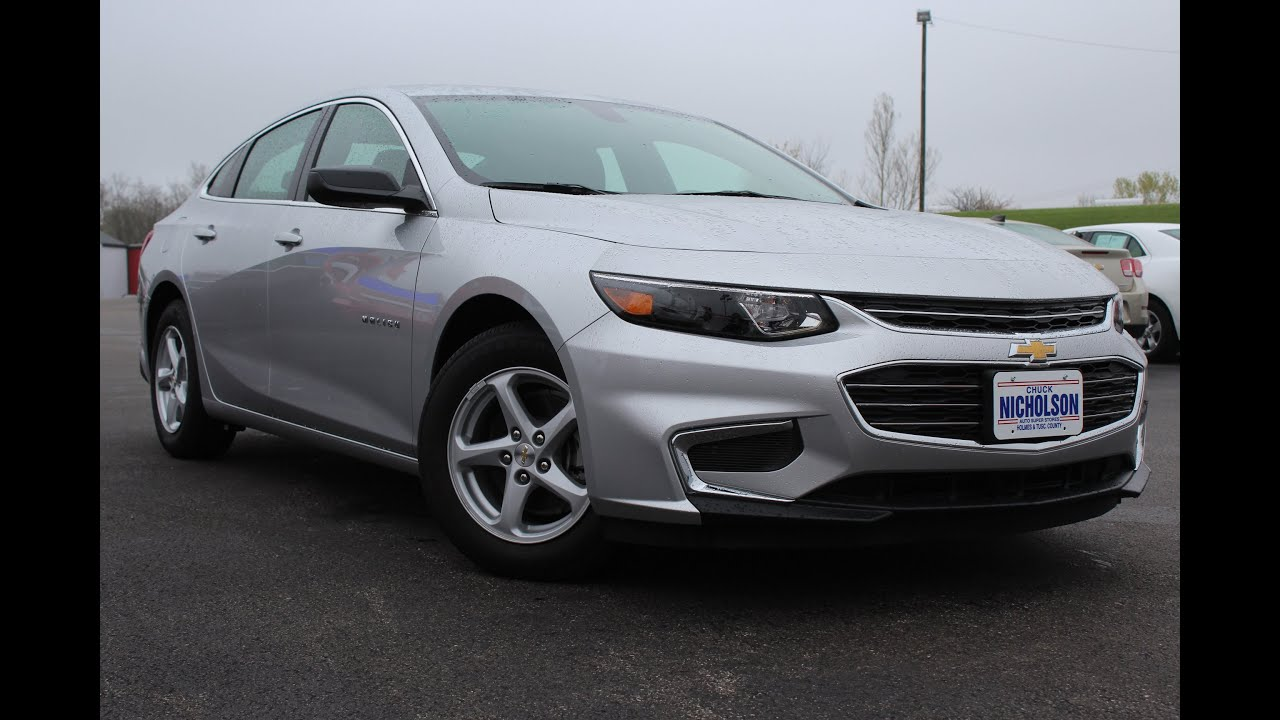 2016 Chevrolet Malibu LS 1.5L Turbo Start Up, Review, and ...