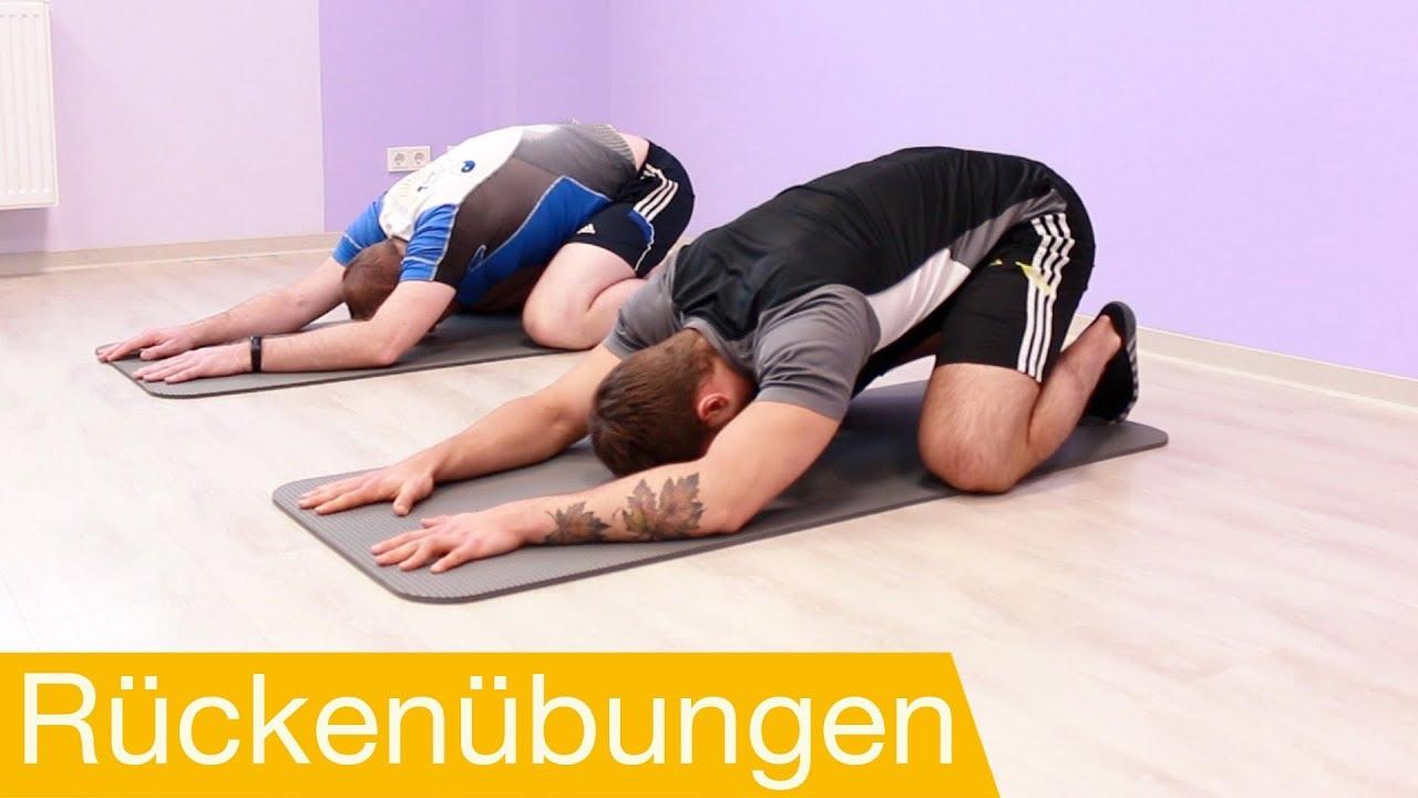 Rückenschmerzen Übungen ⚡️ Rückentraining für zu Hause