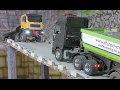 RC TRUCK ACTION MAN TRUCK SAVED THE MERCEDES TRUCK WITH 30T GRAVEL RC LIVE ACTION FOR KIDS