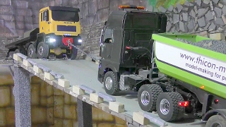 RC TRUCK ACTION! MAN TRUCK SAVED THE MERCEDES TRUCK WITH 30T GRAVEL! RC LIVE ACTION! FOR KIDS