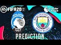 Atalanta vs Manchester City  UEFA Champions League Matchday 3 - Score Prediction FIFA20