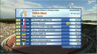 100m Final Men - Controversy in European Champs 2012