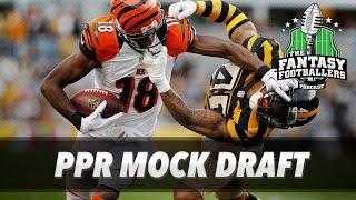 Fantasy Football 2017 - Early PPR Mock Draft - Ep. #377 Free HD Video