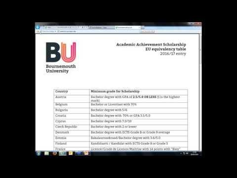 BU Webinar  - 'International Postgraduate Scholarships 26 04 2016'