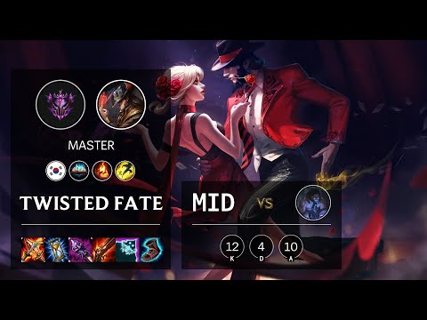 Twisted Fate Mid vs Sylas - KR Master Patch 10.15
