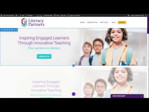 Updating the Literacy Partners website on WordPress